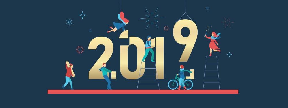 Illustration personnages qui créent 2019
