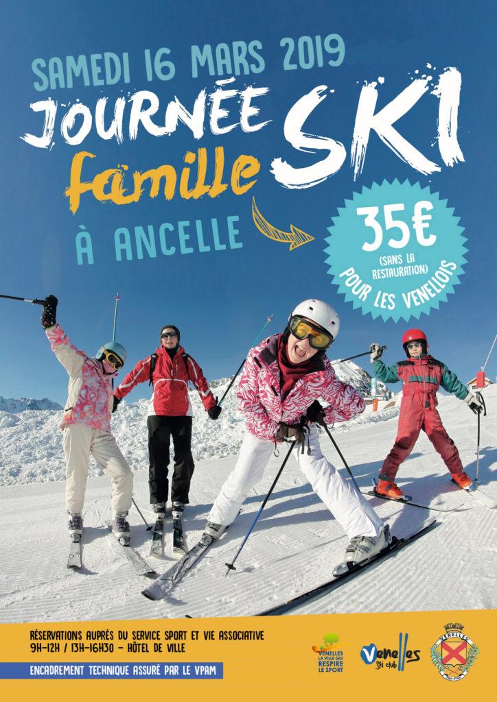 image de 3 enfants et leur mère qui font du ski