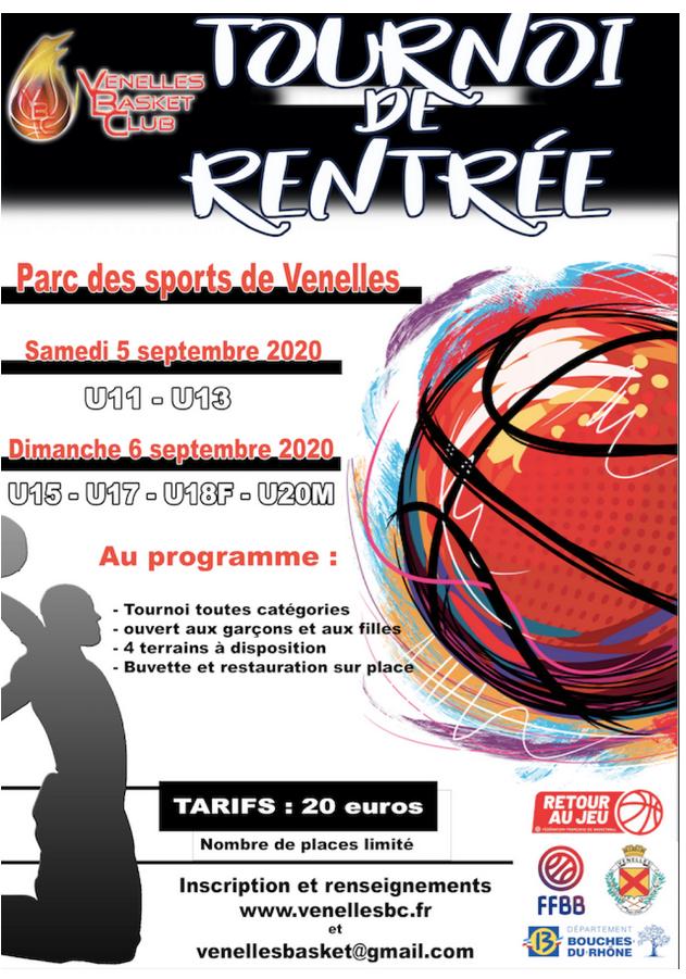 Affiche tournoi de basket 2020