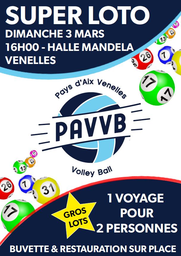 Affiche du loto du PAVVB 2019