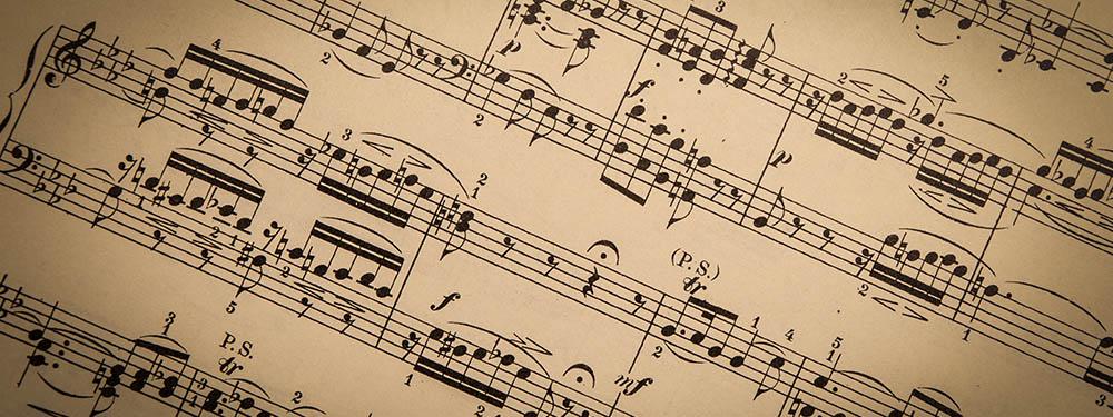 Photo d'une partition de musique