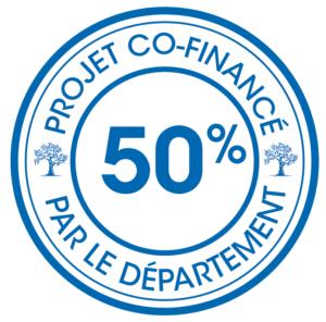 Logo projet co-financé par le département : 50%