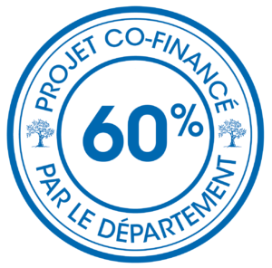 Logo projet co-financé par le département : 60%