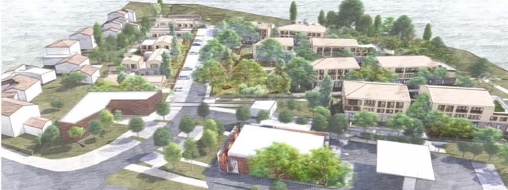Vue 3D du futur projet des Michelons situé à l'entrée de Venelles