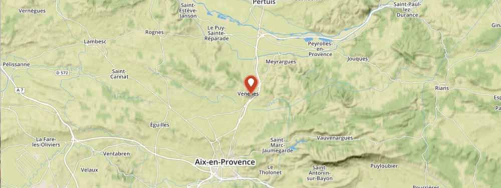 Cartographie google map montrant un plan de venelles