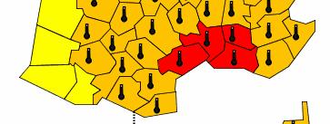 carte du sud de la France montrant le département des bouches-du-Rhône en rouge