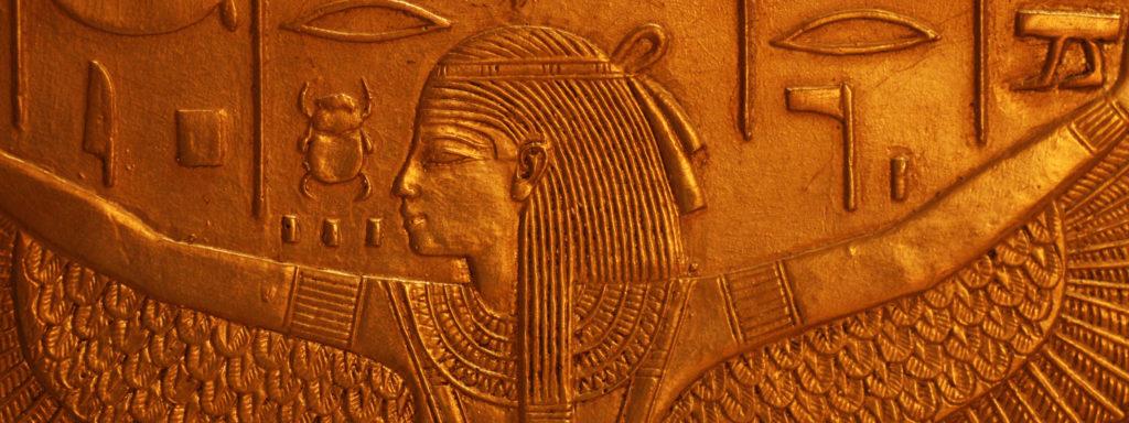 Photo représentant une gravure en dorure de Cléopâtre