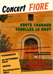 Affiche concert Fiore polyphonies corses