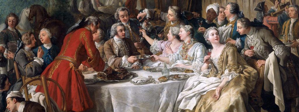Peinture de la Renaissance représentant une scène de banquet