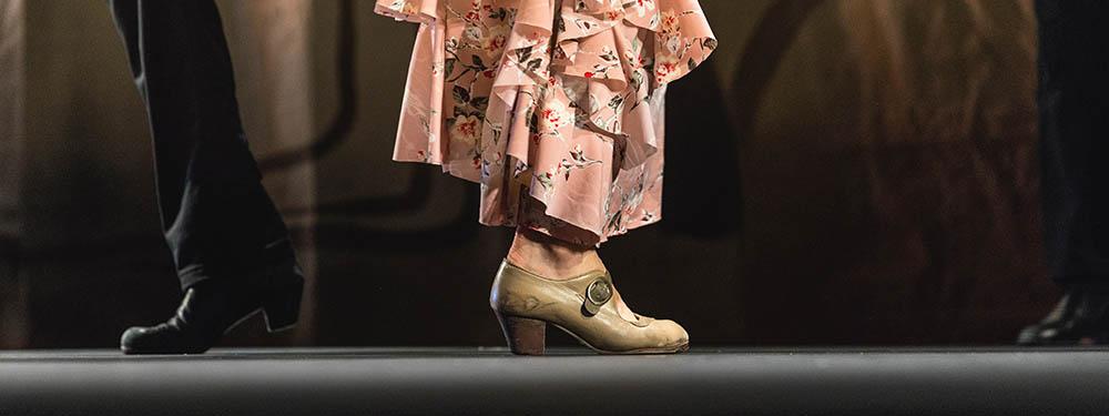 Photo de pieds de danseurs de flamenco homme et femme