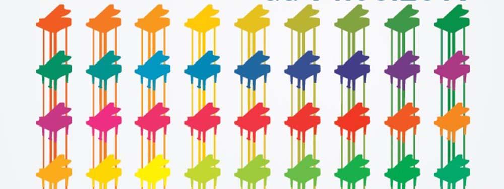 Illustrations de piano de toutes les couleurs