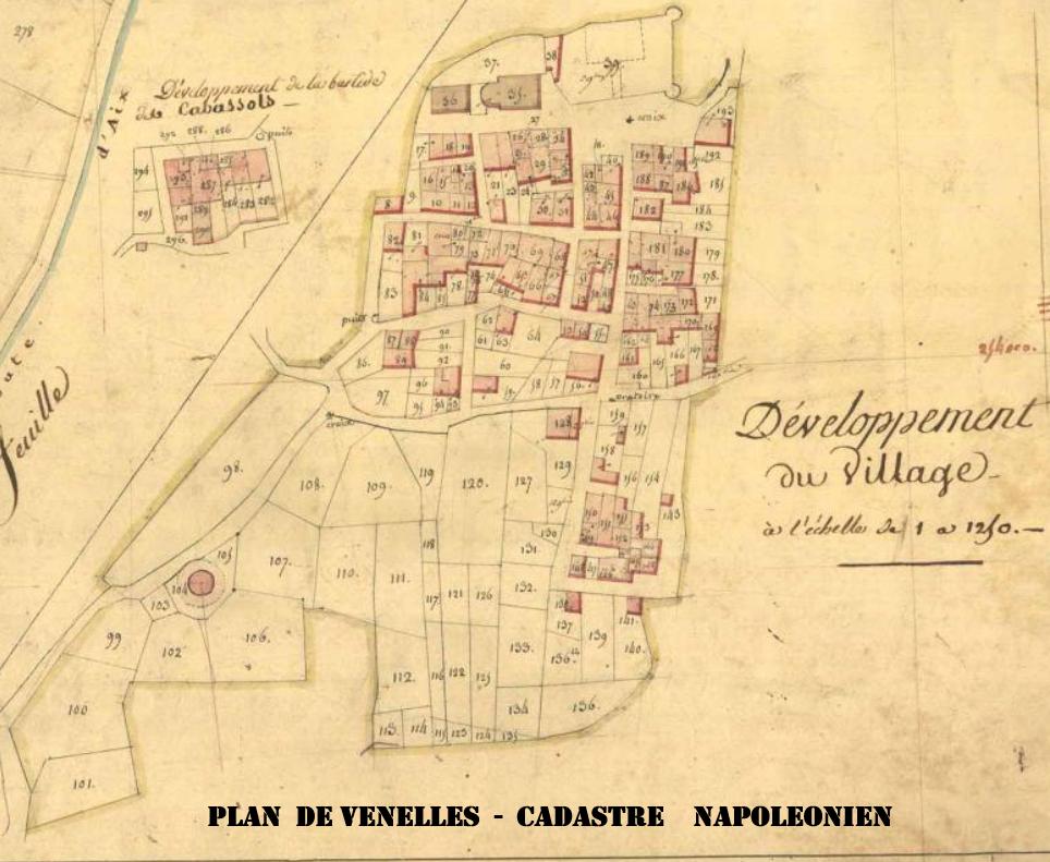 Plan cadastral napoléonien de Venelles