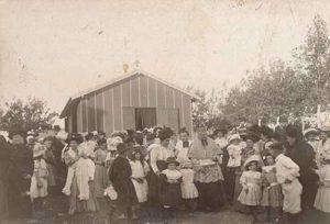 Photo de l'inauguration chapelle provisoire de Venelles