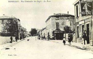 Photo de l'avenue M.Plantier et de la 1ere poste