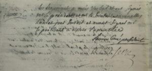 Document issu de la première mairie