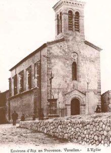 Ancienne photo de l'église de Venelles