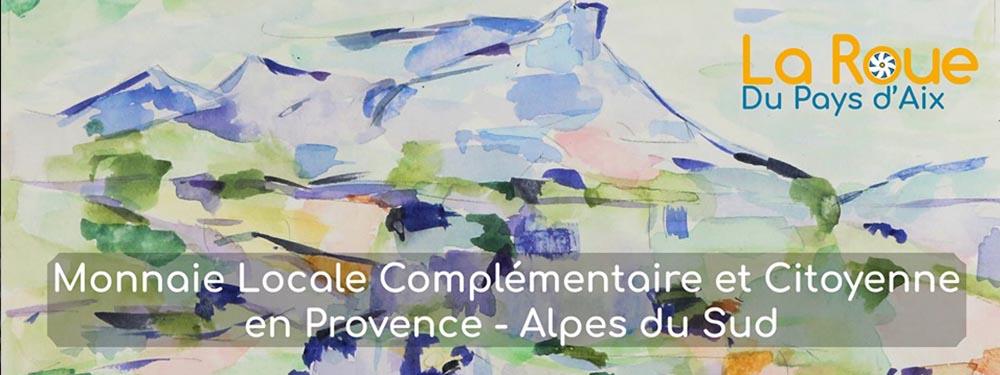 Aquarelle montrant la Sainte Victoire