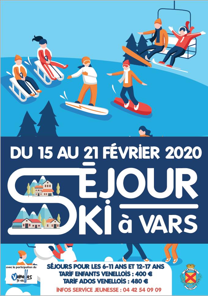 Affiche séjour ski 2019