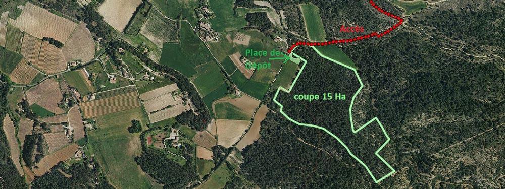Plan de coupe zone Saint-Marc Jaumegarde