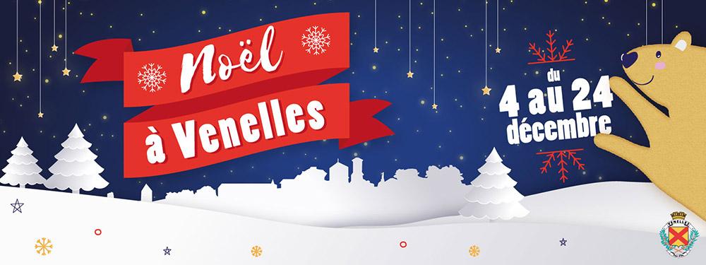 Affiche des festivités de Noel de la ville de Venelles 2019