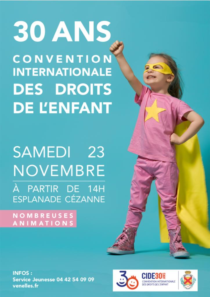 Affiche pour les 30 ans de la convention internationale des droits de l'enfants