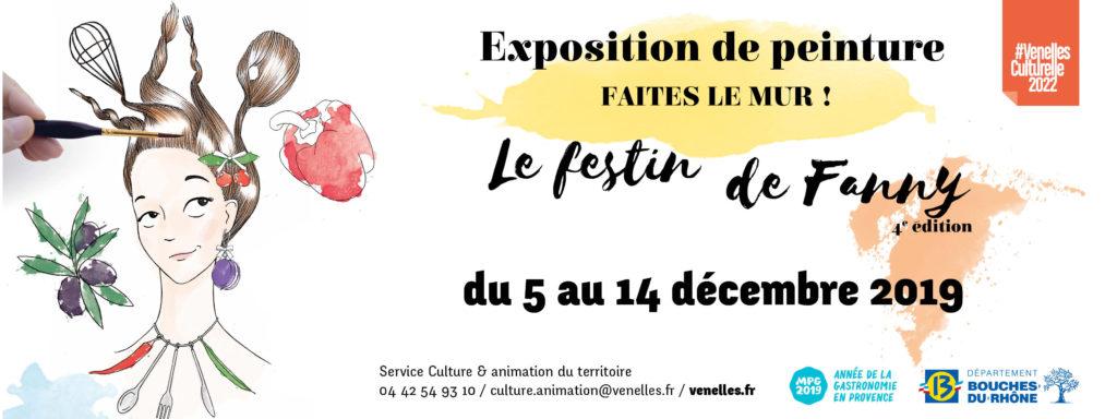 Affiche de l'exposition de peinture Faites le mur !