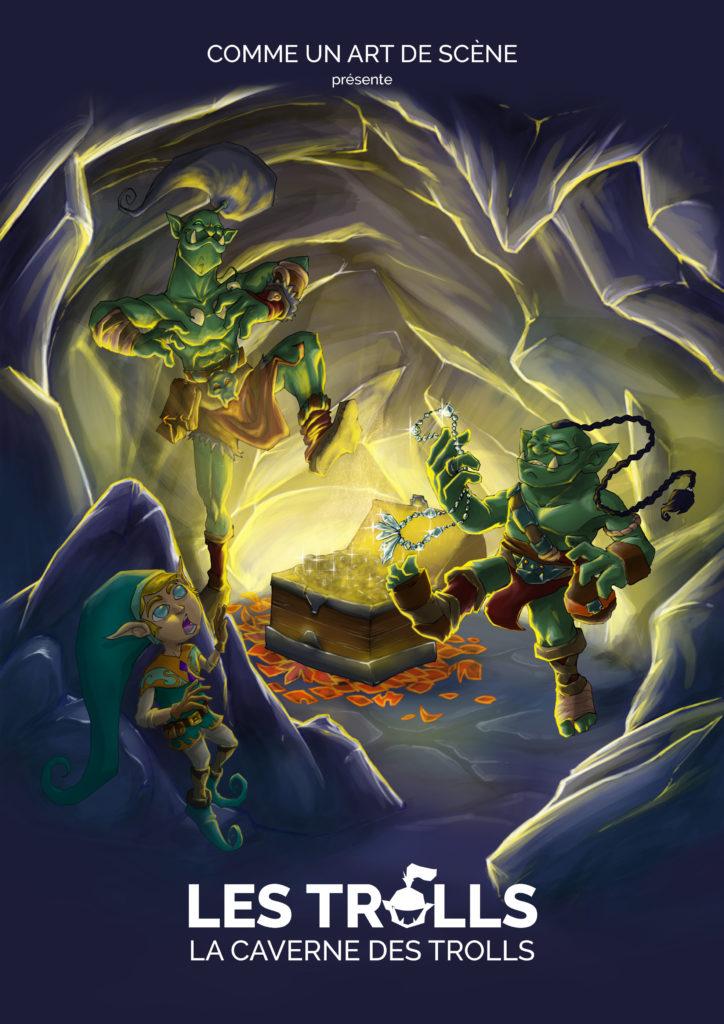 Affiche Nicolange - la caverne des trolls