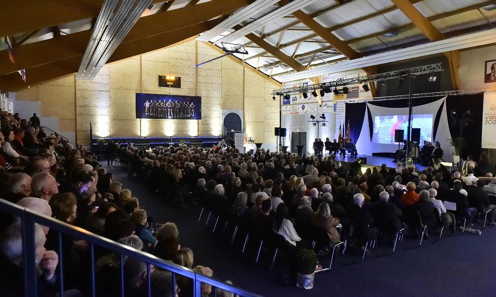Photo de la salle lors de la cérémonie des voeux 2020