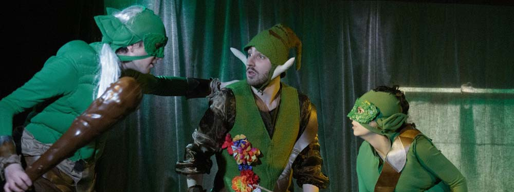 Les acteurs de la caverne des trolls sur scène