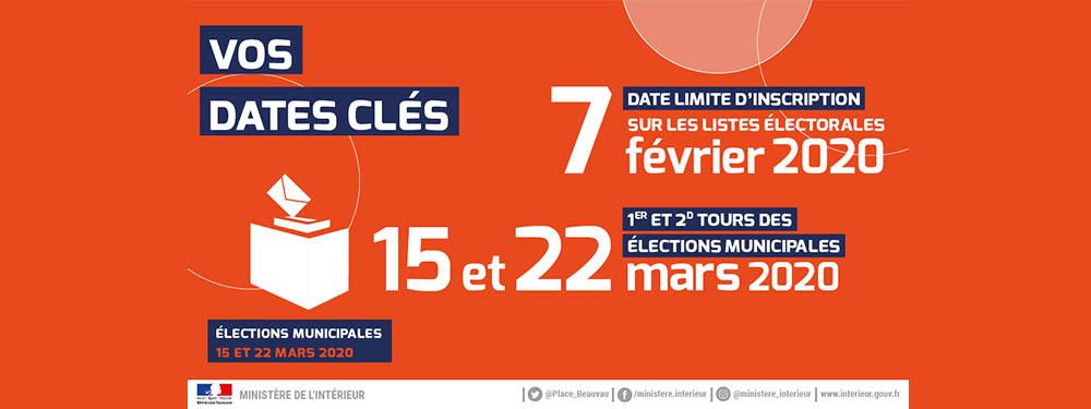 Dates clés des élections municipales