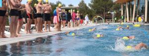 Photo de l'épreuve de natation du triathlon 2019
