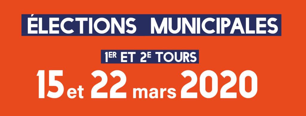 Affiche avec les dates des élections municipales