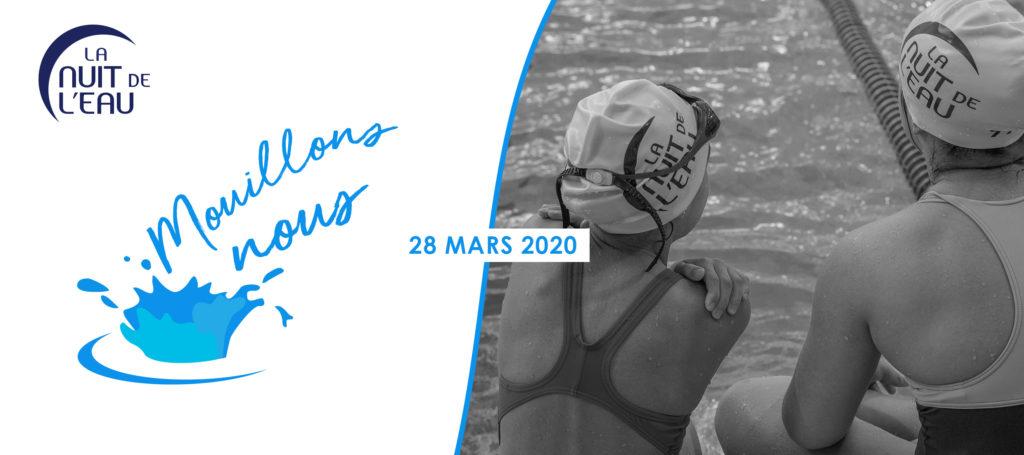 Affiche de la nouvelle édition de la nuit de l'eau qui se déroulera le samedi 28 mars