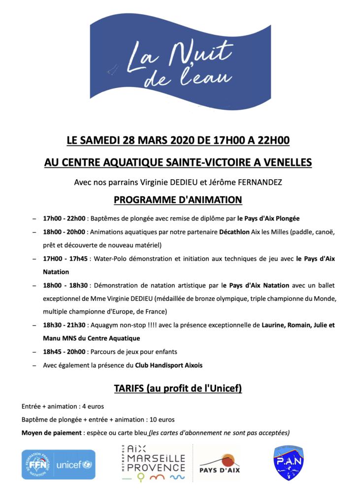 Programme de la nuit de l'eau 2020