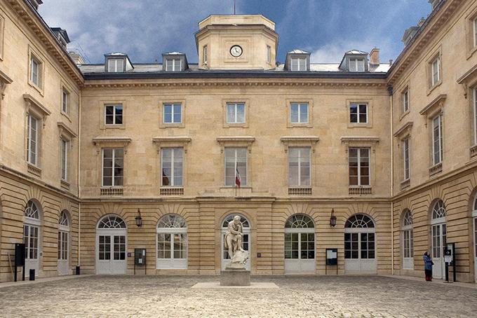 Photo représentant une vue du bâtiment du Collège de France