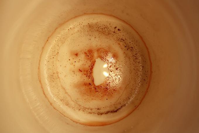 Photo représentant un marc de café vu du dessus