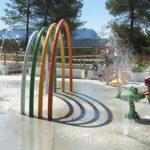 Photo des jeux d'eau extérieur du Centre aquatique Sainte-Victoire