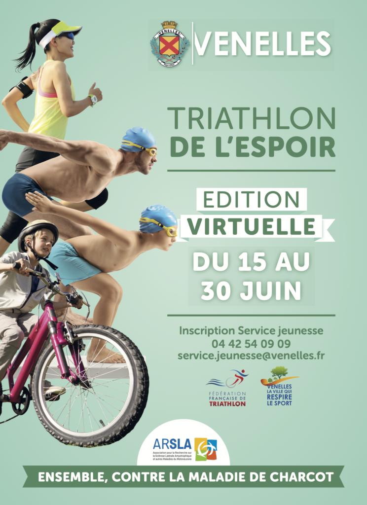 Affiche Triathlon virtuel 2020
