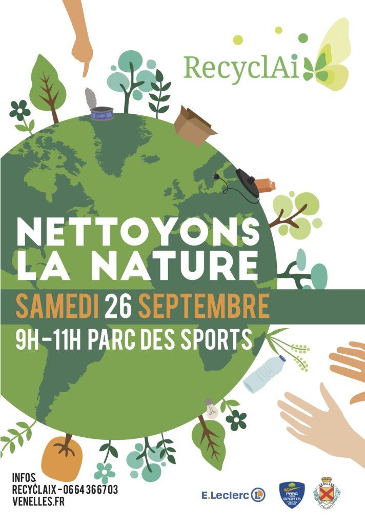Affiche nettoyons la nature ensemble 2020