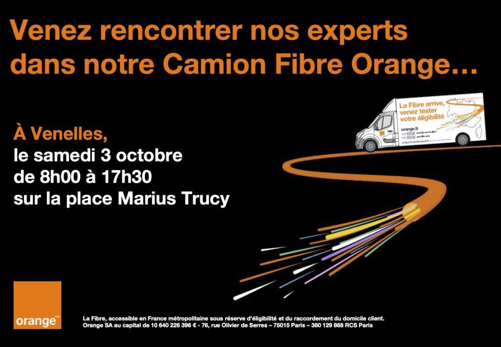 Affiche Camion Fibre Orange