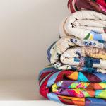 Photo d'une pile de couvertures