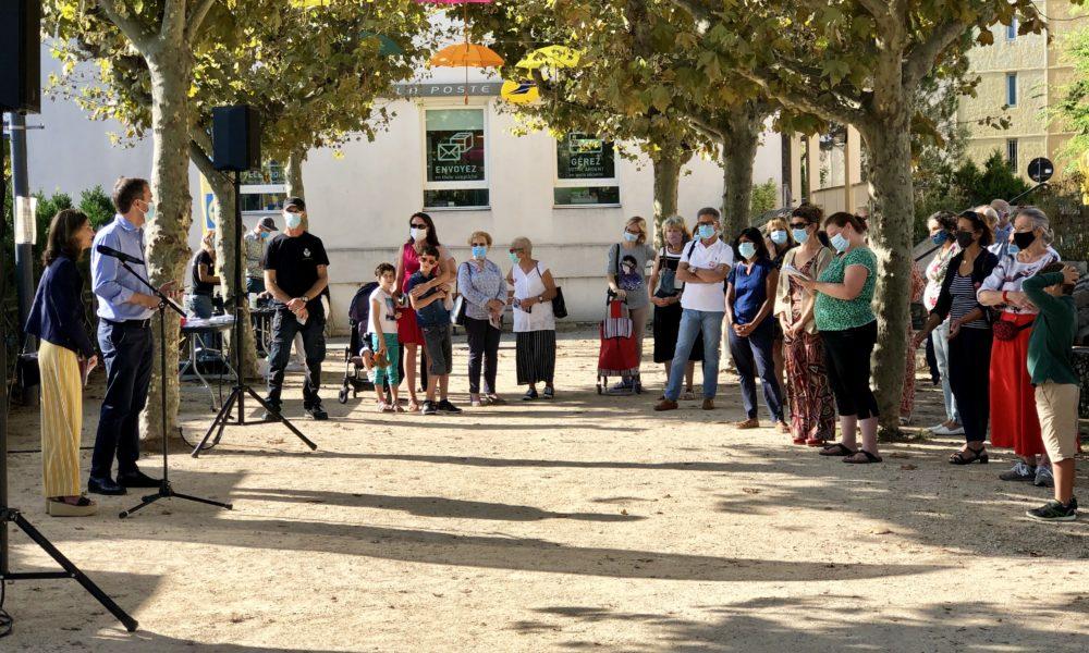 Le public était au rendez-vous pour l'inauguration de ce parcours street art. Une première dans le Pays d'Aix !