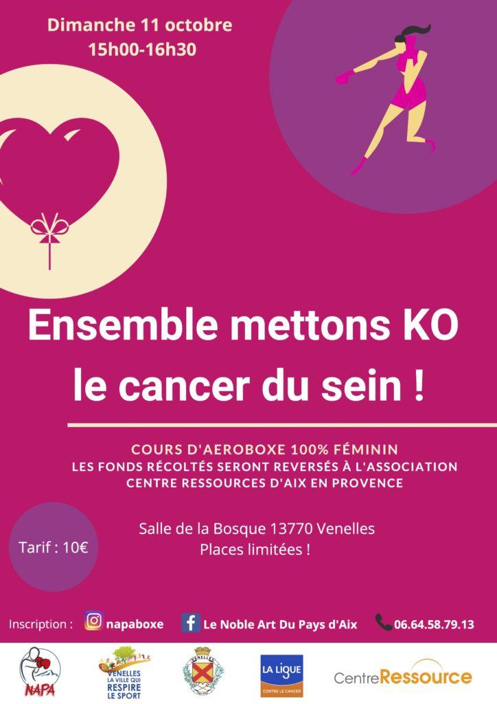 Affiche ensemble mettons KO le cancer du sein