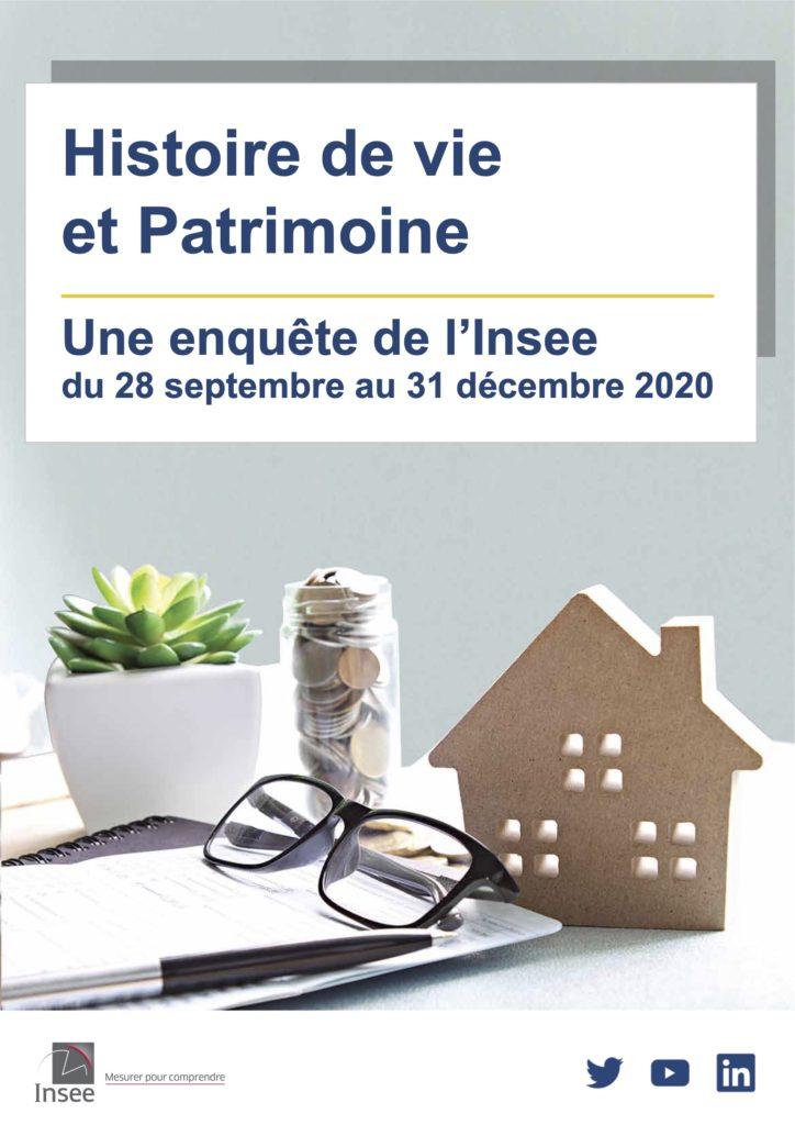 L'Insee réalise, entre le 28 septembre et le 31 décembre 2020, l'enquête statistique sur l'Histoire de vie et le Patrimoine des ménages.