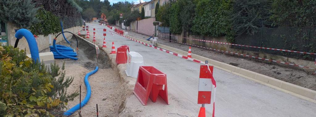 Photo de travaux en cours dans la ville de Venelles