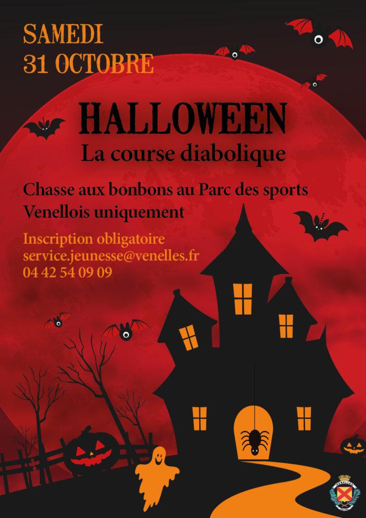Affiche halloween organisée par la ville de Venelles