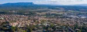 Photo de la ville de Venelles prise par Eric Vieu à travers un drone