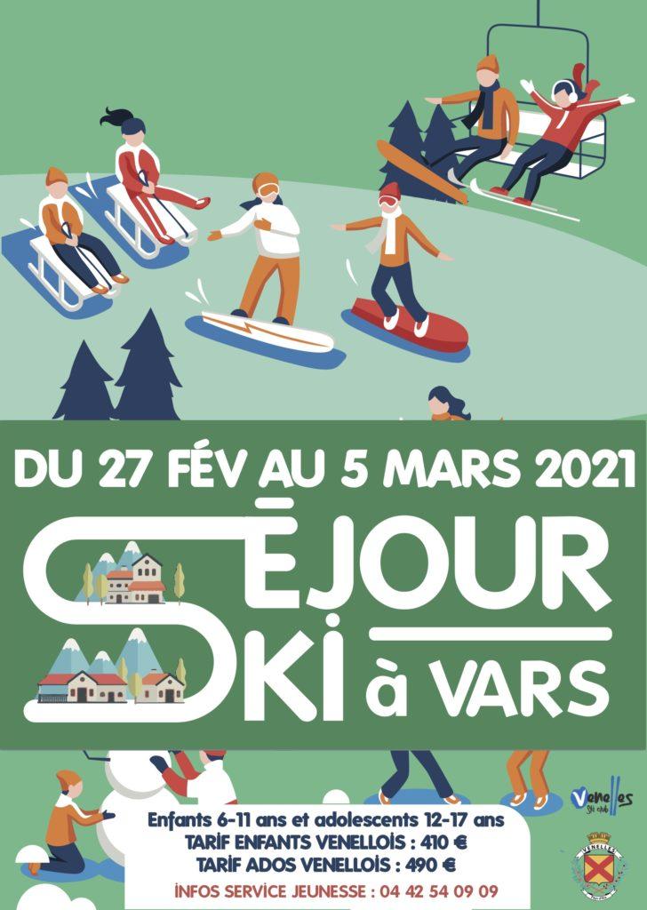 Affiche séjour ski 2020