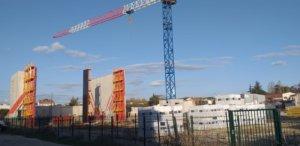 Photo montrant l'avancée du chantier du Pole Culturel - octobre 2020