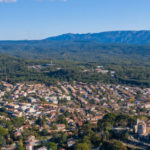 Vue aérienne de la ville de Venelles